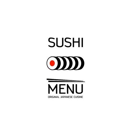 sushi roll: Men� Sushi visita modello Vettoriali