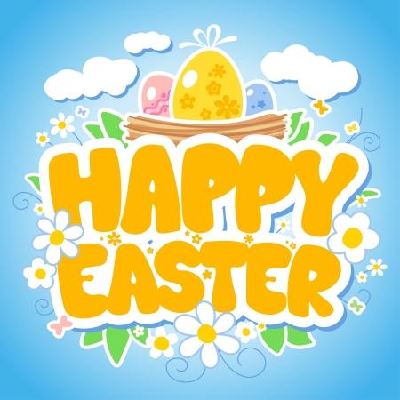 pasch: Buon modello di progettazione di Pasqua. Vettoriali