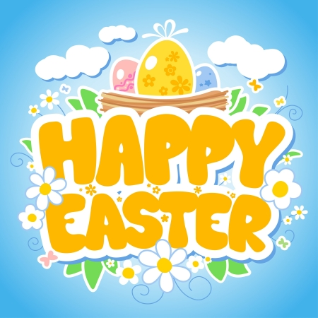 Happy Easter design template. Vector
