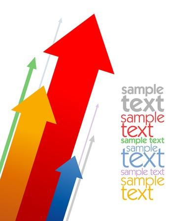 예측: Colored arrows business design template with place for text