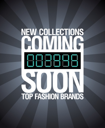advertisements: New collections, coming soon design template.