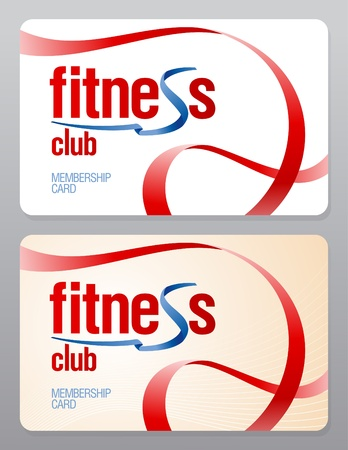 membership: Fitness club membership card design template.