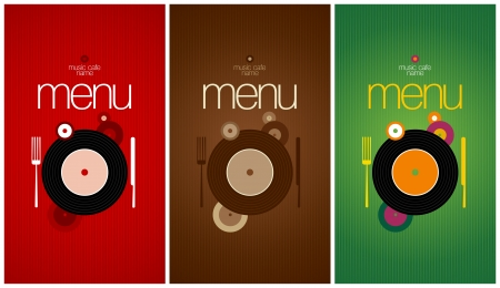 dl: Music Cafe Menu Card Design template.