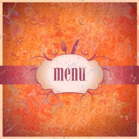 Retro restaurant menu card design template.  Vector