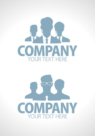 Business people team silhouette designs set Vector