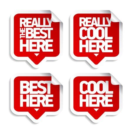 super market: The best here speech bubble stickers