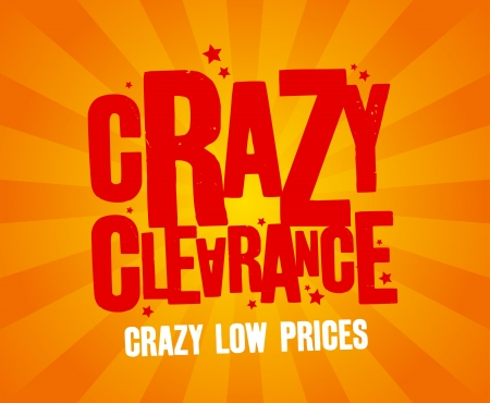 Crazy clearance design template Vector