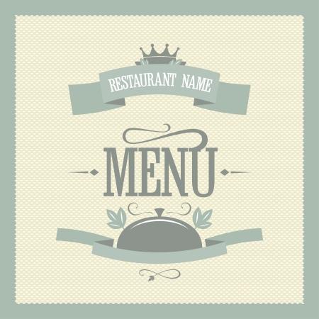 laurels: Retro restaurant menu card design template