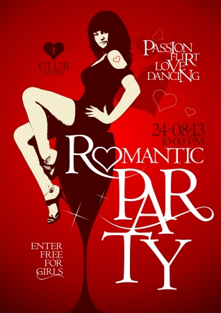 Romantic party design template Vector