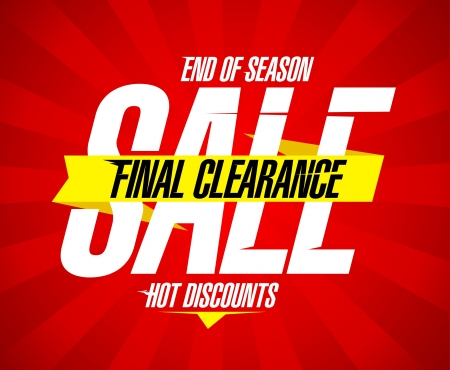 today: Final clearance sale design template