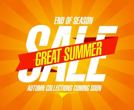 soon: Geweldige zomer verkoop ontwerpsjabloon