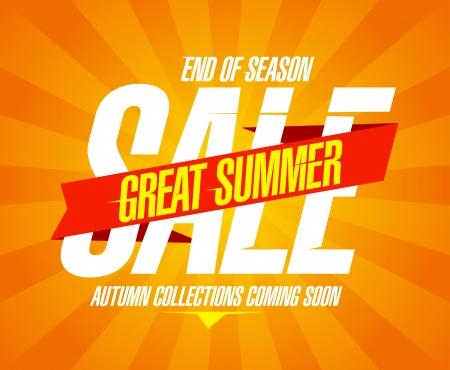 end line: Gran venta del verano plantilla de dise�o