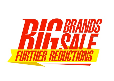 clearance sale: Big brands sale design template.