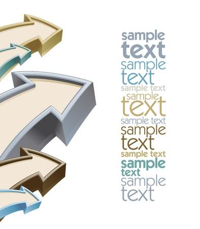 テキストのための場所を矢印の成長のデザイン テンプレート  イラスト・ベクター素材