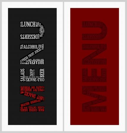 dl: Restaurant menu cards set
