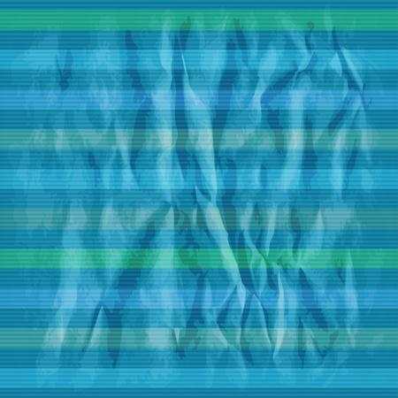 Retro striped pattern on crumpled psper. Vector