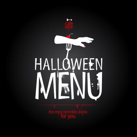 halloween poster: Halloween Menu Carta modello di progettazione.
