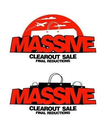 massive: Massive clearout sale design templates.