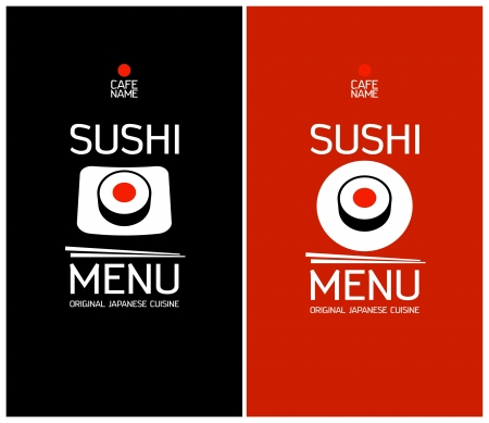 Sushi menu cards design template. Vector
