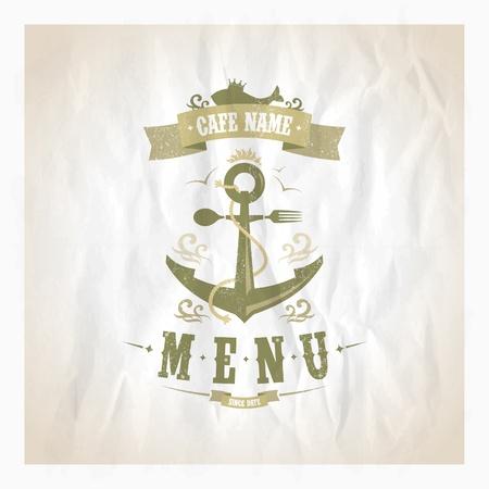 Owoce morza karty menu w restauracjach. Eps10