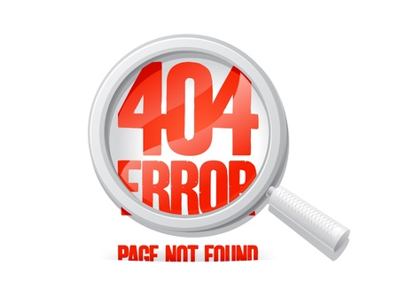 404 error, page not found. Design template. Vector
