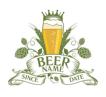 ビールのシンボル デザイン。  イラスト・ベクター素材