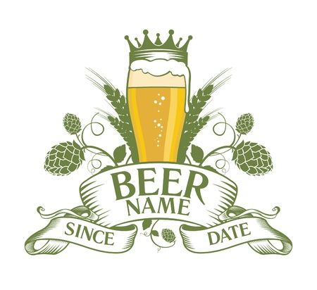 Bier Symbol Design. Vektorgrafik