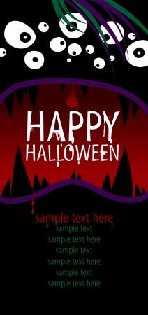 dl: Happy Halloween Design template with place for text. Illustration