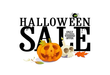 Halloween sale offer design template. Vector