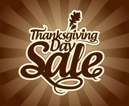 Thanksgiving Day sale design template. Illustration