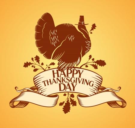 turkey thanksgiving: Acci�n de Gracias plantilla de dise�o Feliz D�a