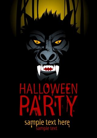 wilkołak: Halloween Template Design Party z wilko?aka.