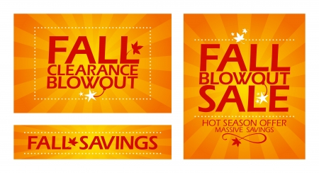Final fall clearance sale banners  Vector