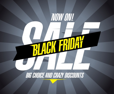 Black friday sale design template. Vector