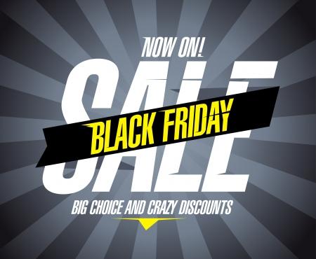 Zwarte vrijdag verkoop design template. Stock Illustratie
