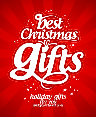 Best Christmas Gifts Design Template. Royalty Free Cliparts, Vectors ...