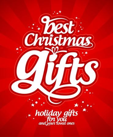 Besten Weihnachtsgeschenke Design-Vorlage.