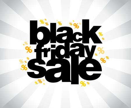 black friday: Black friday sale banner. Illustration