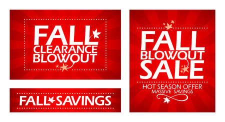 clearance sale: Fall clearance sale banners. Illustration