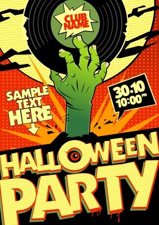 halloween party: Het ontwerp van Halloween party in pop-art stijl.