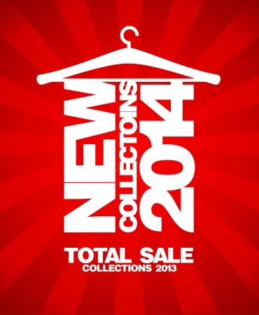 New collections 2014, total sale collections 2013 banner. Vector