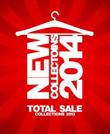 totales: Nuevas colecciones de 2014, el total de colecciones de banner de venta 2013.