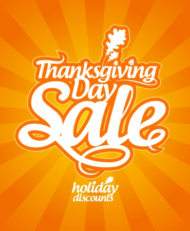 thanksgiving leaves: Thanksgiving Day sale design template. Illustration