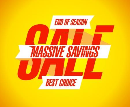 massive: Massive savings sale banner. Illustration