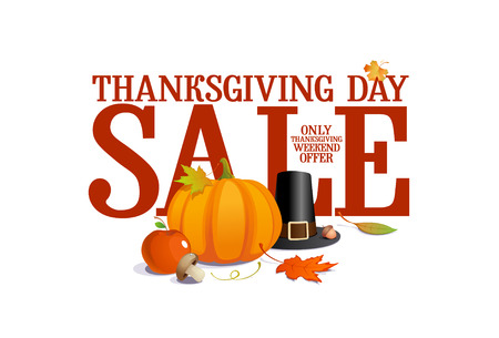 Thanksgiving day sale design  Illustration