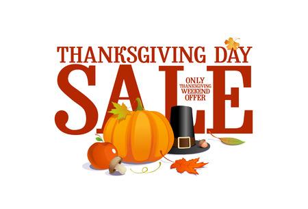 thanksgiving day: Thanksgiving day sale design  Illustration