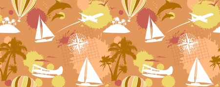 Traveling seamless background   Vector