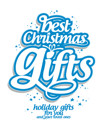 season's greeting: Best Christmas gifts design template.