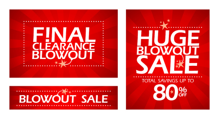 Final clearance sale banners  Vector