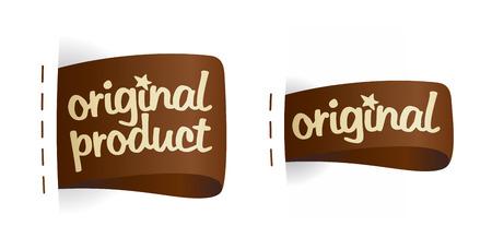 Original product labels set. Vector